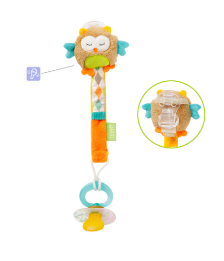 71092 – pacifier holder owl