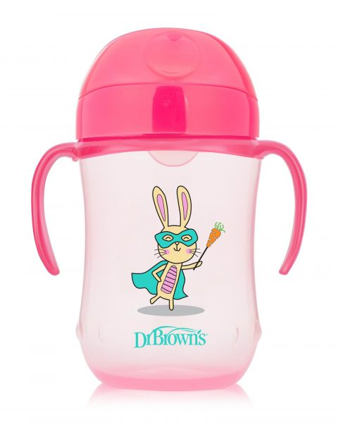 TC91024-INTL_Product_9oz_270ml_Soft-Spout_Toddler_Cup_Pink_Bunny_Superhero