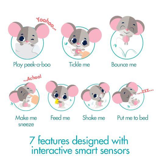 tinylove babytoys Wonderbuddies CocoTheMouse InteractiveToys SevenSmartSensors