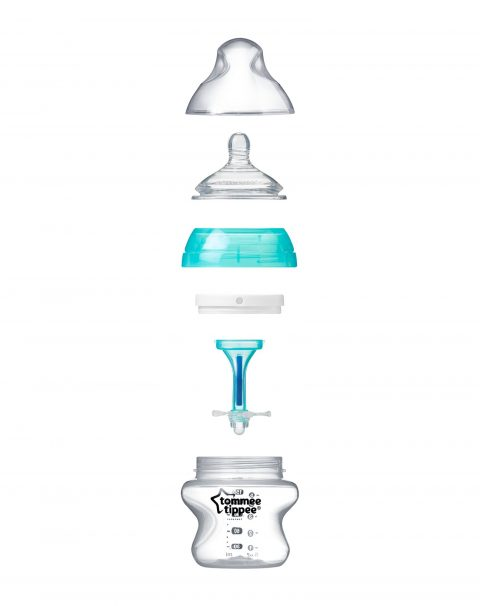 PNG, Advanced Anti-Colic Feeding Bottle, 150ml x 1, exploded_